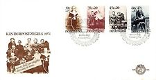E136 First Day Cover Netherlands 1974 Kind (1059-1062)