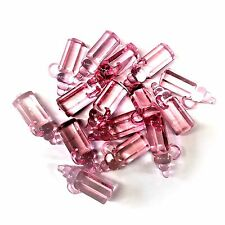50 x Baby Pink Plastic Baby Bottle Charms, BABY SHOWER, Dummy Clips