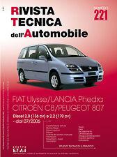 Manuale tecnico di riparazione Citroen C8-Fiat Ulysse-Lancia Phedra-Peugeot 807