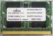 GENUINE 512MB MEMORY MicroDIMM Fujitsu P1500D P1510 P1610 P1620 P7120