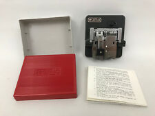 Vintage EUMIG Super 8 Bevel Edge Splicer Keilschnitt Klebepresse Original Box