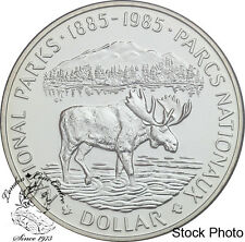 Canada: 1985 $1 National Parks Centennial BU Silver Dollar Coin -Capsule Only