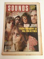 Bon Jovi  Sounds - Music Paper August 19 1989 - Plus Chart and Adverts etc