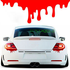 (1) Car SUV Body Headlight Tail Light Bleeding Red Blood Vinyl Decal Sticker