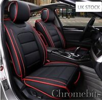 Deluxe Black PU Leather Front Seat Covers Cushion For Nissan Qashqai Juke Navara