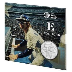 2020 Royal Mint Elton John £5 BU Coin - DODGERS STADIUM - Music Legends Series