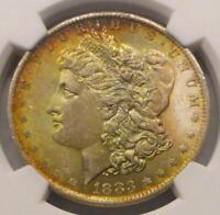 1883 O NGC MS64 Silver Morgan Dollar, MS 64 Silver $1 Coin, Orange Color Tone