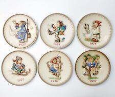 Lot of 6 Vintage Goebel Mj Hummel 1972 - 1977 Annual Collector 7-1/2'' Plates