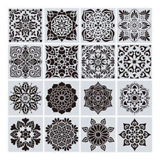 16pcs/set Mandala  Stencils DIY Drawing Template Painting Scrapbooking PaperCard