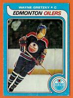 """1979-80 TOPPS ROOKIE CARD WAYNE GRETZKY HOF EDMONTON OILERS #18 """"The Great One"""""""