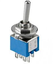 goobay kippschalter subminiatur l/b/h 8/9/7mm 2x umschalter 3/125 av 6 pins neu