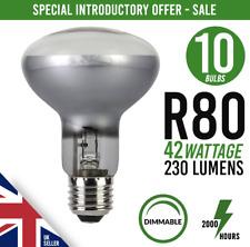 x10 Dimmable Halogen Spot Light Bulb R80 E27/ES 42w 60watt  5 Packs 2 = 10 Bulbs