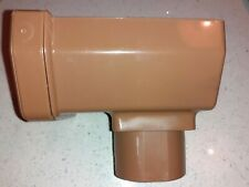 Freeflow brown Square Gutter Stopend Outlet - FRS606
