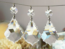 "20 Lead Crystal French Pendants Chandelier Lamp Parts 2""L Sun catcher Wedding"