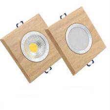 square wood led downlight modern 3W 5W led recessed ceiling spotlights lamp