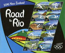 New Zealand Olympics Postal Stamps