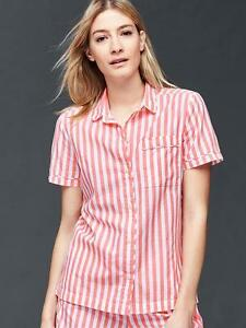 GAP NWT Poplin short sleeve print shirt XS