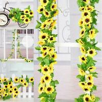 Artificial Sunflower Garland Fake Silk Flowers Floral Vine Wedding Party Decor