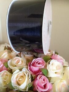 ORGANZA WIDE NAVY BLUE SHEER RIBBON 50mm x 50 METRES EXTRA LARGE ROLL