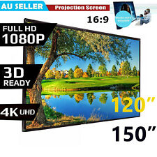 """Portable 120""""150'' inch Projector Screen 16:9 Home Cinema Theater Diagonal Hook"""