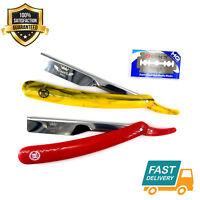 Professional Barber Hair Shaving Razor Straight Knife Navaja With Free 10 Blade
