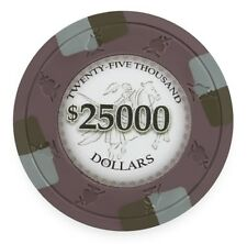 25 Brown $25000 Poker Knights 13.5g Clay Poker Chips - Buy 2, Get 1 Free
