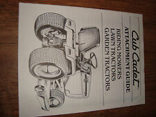 Cub Cadet Lawn Tractor Riding Mowers Garden Attachment Guide