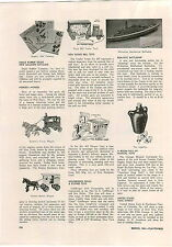 1941 PAPER AD Wolverine Toy Battleship Kenton Cast Iron Toys Bakery Wagon Circus