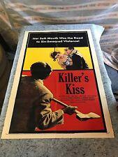 "Killer's Kiss 1955 Original 1 Sheet Movie Poster 27"" x 41"" Stanley Kubrick  RARE"