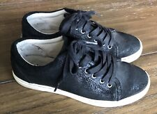 UGG Australia TOMI Black Bomber Leather Sneakers Size US 7