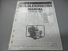 NOS Honda OEM Power Equipment Troubleshooting Manual Generators EU1000i EN500