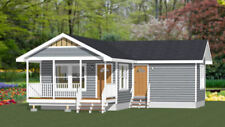 16x30 House -- 2 Bedroom  -- PDF Floor Plan -- 705 sq ft -- Model 4E