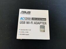 Asus AC1200 USB-AC53 Nano USB Wi-Fi Adapter New In Box