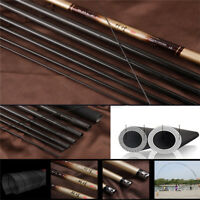1PC 2.7-7.2m Carbon Fiber Hand Pole Telescopic Freshwater Hard Fishing Rod Gear