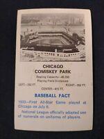 1969 Fleer Baseball CHICAGO COMISKEY Park Fair *CT07A