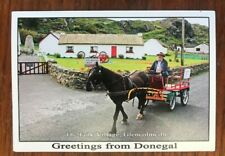 Greetings From Donegal Ireland Postcard The Folk Village, Glencolmcille, Horse