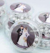 12 WEDDING KEEPSAKE ROSARY FAVORS COUPLE RECUERDOS DE BODA ROSARIO WHITE BEAD