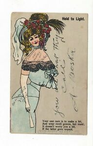 HOLD to LIGHT     Vintage  HTL     POSTCARD   BEAUTY and LECHER
