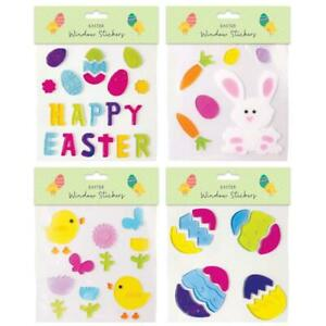 Square Gel Easter Window Stickers