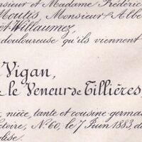 Isabelle Albertine Marguerite Le Veneur De Tillières Charles De Vigan 1883