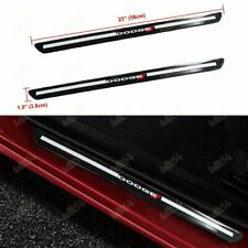 For Dodge Carbon Fiber Car Door Welcome Plate Sill Scuff Cover Decal Sticker X2
