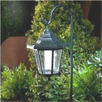 White LED Solar Powered Garden Light Shepherd Lantern Outdoor