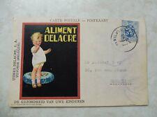 carte postale / postkaart publicite delacre 1933 vilvoorde