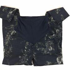 7 For All Mankind Maternity 30 Pants Secret Fit Belly Skinny Leg Black Floral Pr