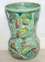 Antique Beswick Vase - Pastoral Majolica. 1936 Ht: 18cm, Dia: 12cm. VGC