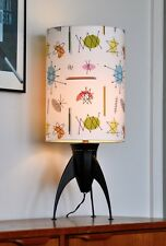 Vintage Rocket Mid Century RETRO atomic 'YIKES!!!' Table Lamp with new shade