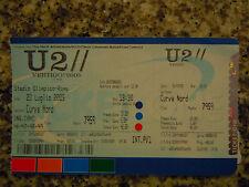 U 2 - TICKET/BIGLIETTO -  ROMA STADIO OLIMPICO 23/07/2005 - PERFETTO