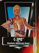 C-3PO Metalized UnOpened Action Figure 1995 Star Wars POTF2 Red N Mint Card