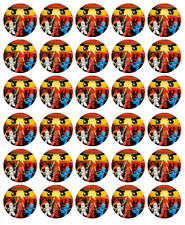 "30 LEGO NINJAGO 1.5"" ROUND (35mm) EDIBLE WAFER PAPER CUPCAKE TOPPER #1"