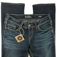 Silver Suki Womens Jeans Mid Baby Boot Fluid Denim 32x31